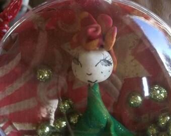 Christmas ball, (8cm), unique piece!