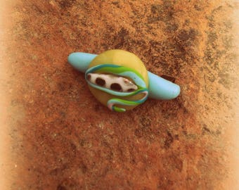 (4cm), polymer resin brooch unique, hand made