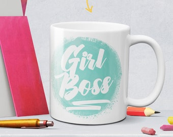Girl boss green coffee mug - femtrepreneur - boss lady mug - tea cup - best friend gift