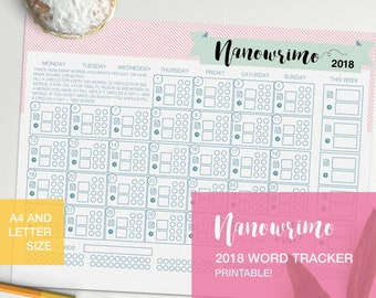 Nanowrimo tracker for writing planning 2018 - v5