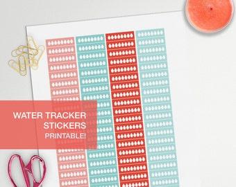 water intake tracker stickers