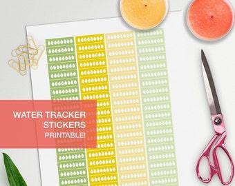 water tracker stickers - student planner - bullet journal - water intake tracker - filofax personal - erin condren