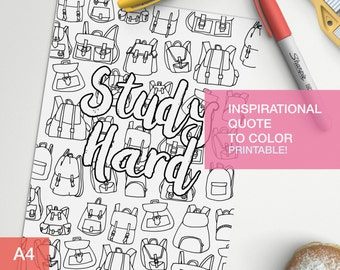 Inspirational coloring quotes for students