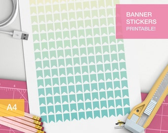 Banner stickers for your planner