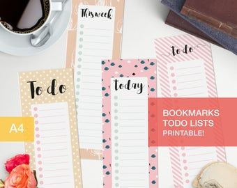 Printable bookmark - Printable - bullet journal to do v5