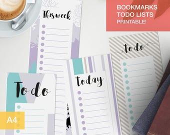 Printable bookmark - Printable - bullet journal to do v12