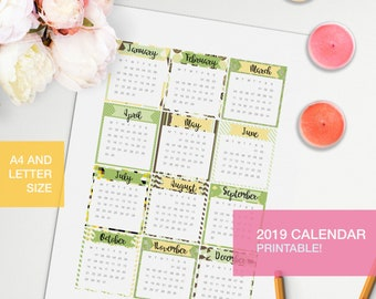 Calendar pages 2019 planner inserts