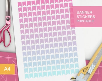 Planner banner stickers for planner decorating