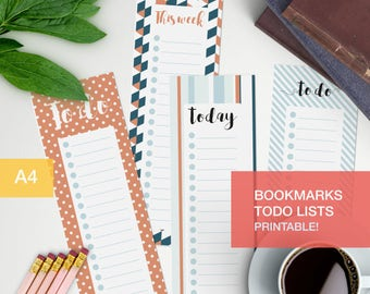 To do list planner bookmark - Printable - bullet journaling v1