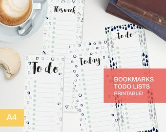 To do list planner bookmark - Printable - to do list pdf v7