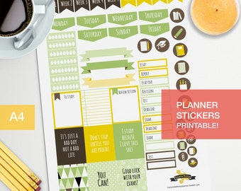Student stickers for your journal and planner decorating