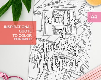 Inspirational coloring quotes printable