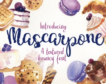 Mascarpone - a textured bouncy font