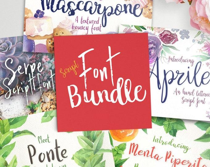 Featured listing image: Script font bundle