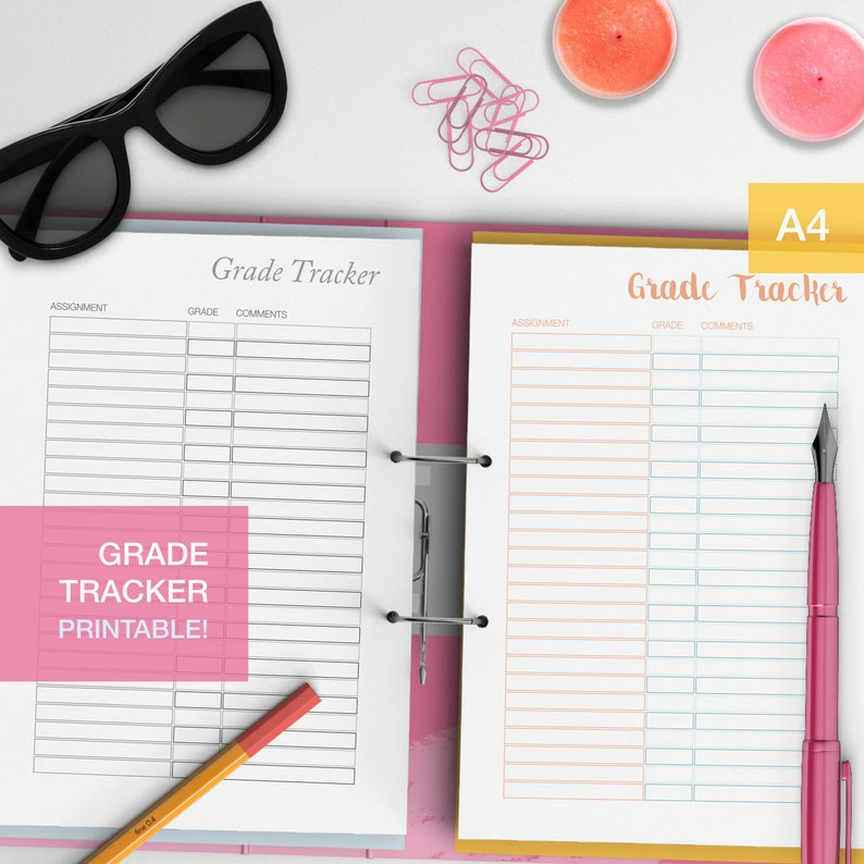 Grade tracker template
