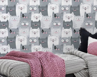 Cat wallpaper | Etsy