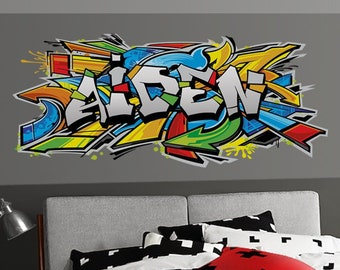 743fe2200b37 Graffiti Art Personalized Name Vinyl Wall Decal