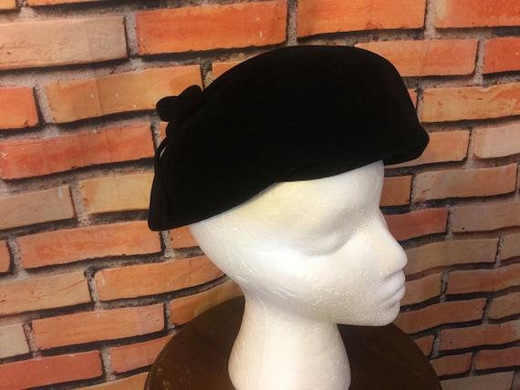 Beret, Womens Beret Hat, Sheraton Beret/Black Bere