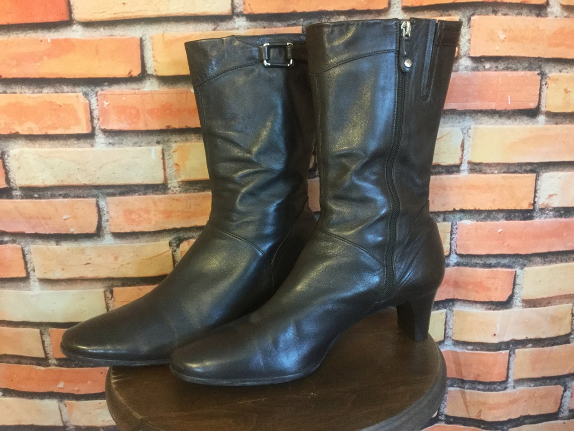Cole Haan Womens Brown Boots Size 7.5 Leather Vintage - Big Sale rfBhS
