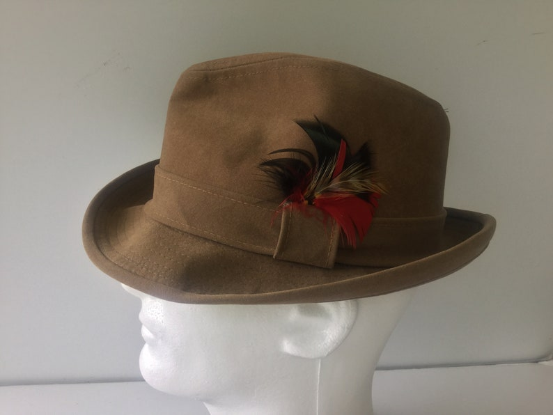 6a31c079bf7f5 Cuban Style Fedora FREESHIPPING Vintage Hat Camel Color Hat