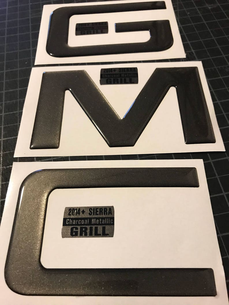 info for 44e83 33f44 PRECUT Gel Coated Domed emblem overlay compatible with GMC   Etsy
