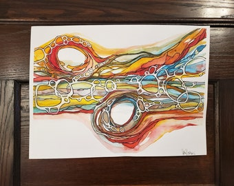 Original Watercolor Painting - 11 X 15 Watercolor - Abstract Watercolor - Southwest Vibes