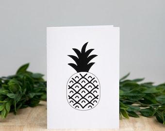 Monochrome Pineapple Card