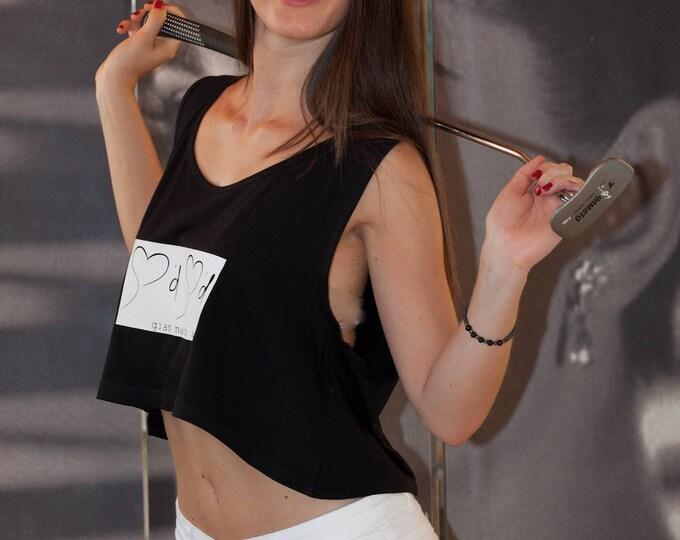 Gian Marco Amato Tank Top Fashion . 100% cotton.