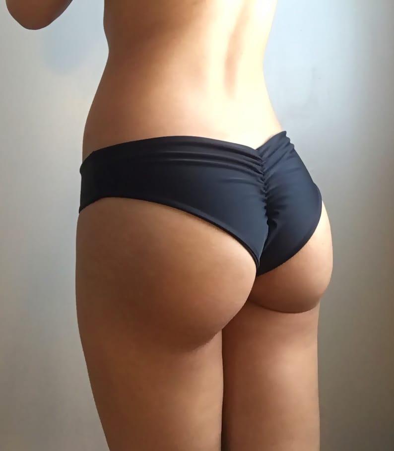 bbbf18fb08 Cheeky Brazilian Bikini Bottom   Low Rise Scrunch Bottom
