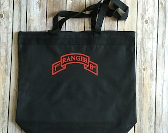 Army Ranger Tote with Scroll/Zipper Closure