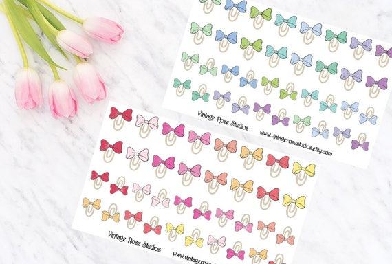Noeud pinces fonctionnel Planner Stickers en Palette de couleurs ...