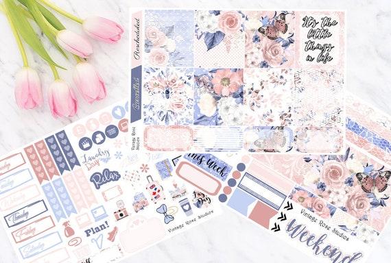 DHZ141 Girls Wanna Have Sun Horizontal Life Planner Kit Stickers Erin Condren Planner!!!! weekly kit