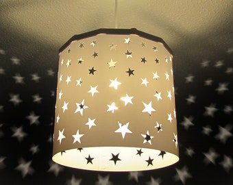 Lamp shades etsy search results more colors white stars lampshade keyboard keysfo Images