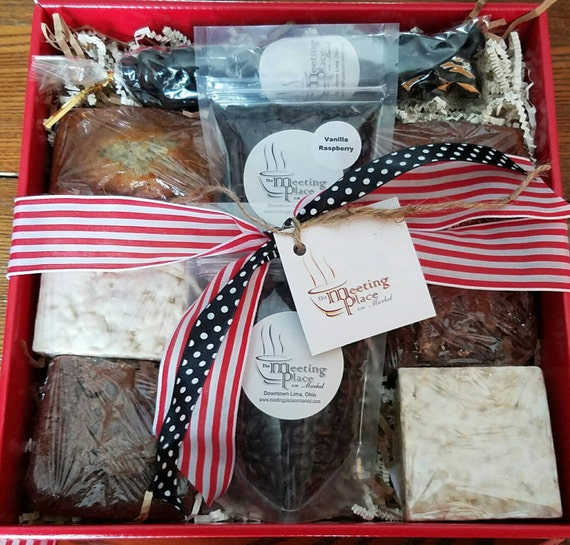 Thank You Gift Basket W Coffee Homemade Baked Goods Hostess Etsy