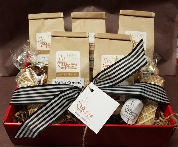 Premium Coffee Gift Basket Christmas Gift Biscotti Coffee   Etsy
