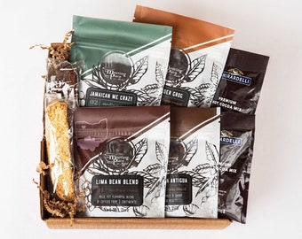 Gourmet Coffee Sampler Gift, Flavored and Origin Coffee, Thinking of You, Hostess Gift, Birthday Gift, Thank You Gift, Coffee Gift Box