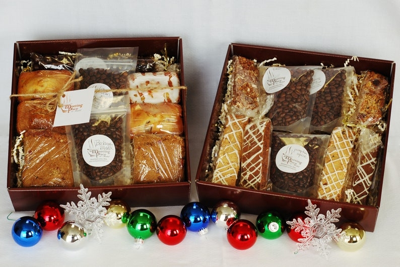 Deluxe Coffee Gift Basket Double W Homemade Baked Goods Hostess Birthday Corporate Hospitality Office