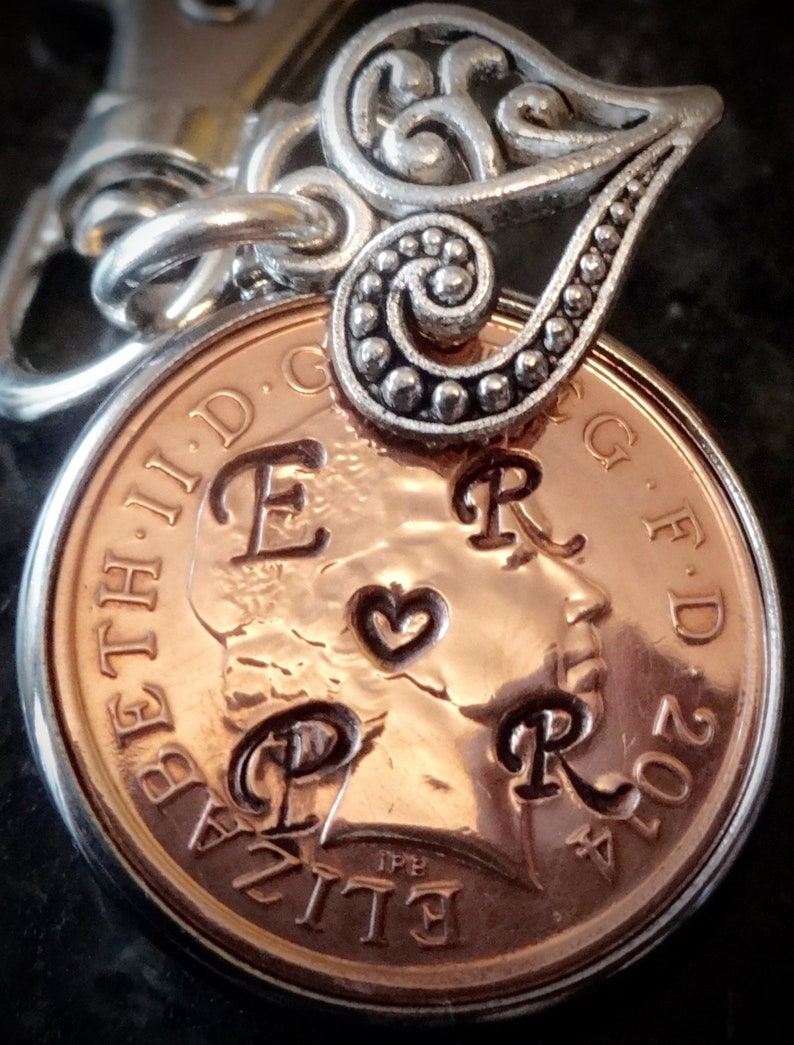 19th lucky penny Wedding Anniversary Gift 2000 Penny personalised with  initials love token for girlfriend boyfriend lover marriage 19th