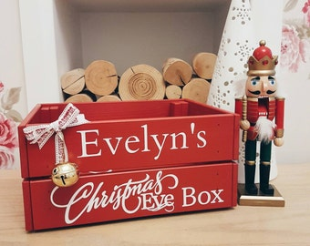 Christmas Crate Box.Personalized Large Christmas Eve Box Crate Personalised Etsy