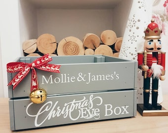 Christmas Crate Box.Personalised Christmas Eve Crate Christmas Eve Box Kids Etsy
