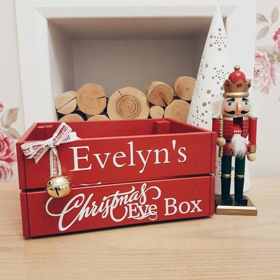 Christmas Eve Crate.Personalised Christmas Eve Crate Christmas Eve Box Kids Crate Xmas Eve Santa Hamper