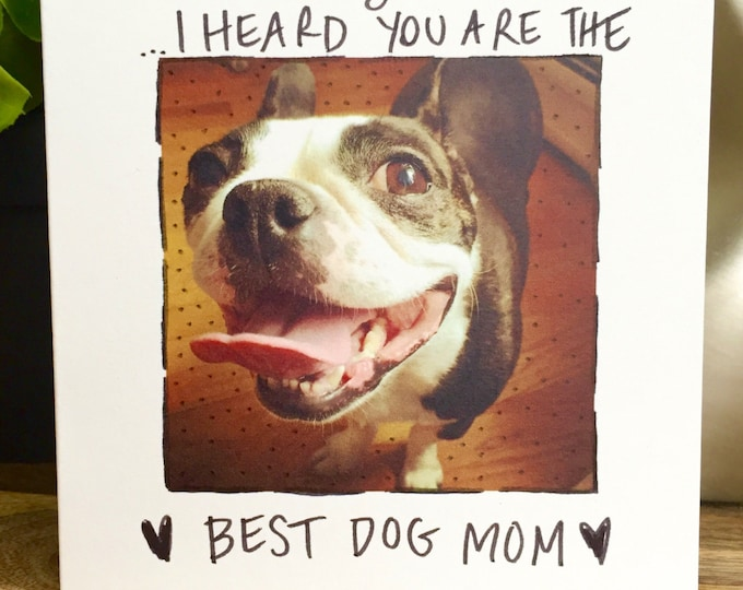 Funny Mothers Day, Mother's Day Card, #1 Mom, dog mom, Doggy Mothers Day, mothers Day Card Funny, Boston Terrier, Mother's Day from the dog