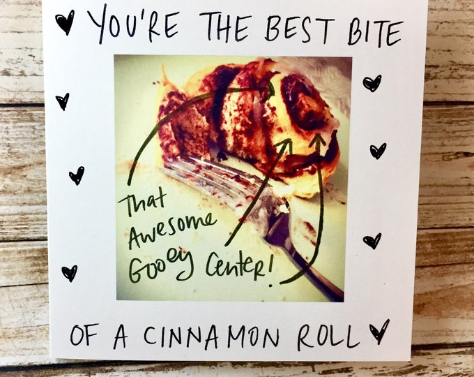 Featured listing image: Love you like Cinnamon Rolls, Sidesandwich Love Card, Handmade Valentine