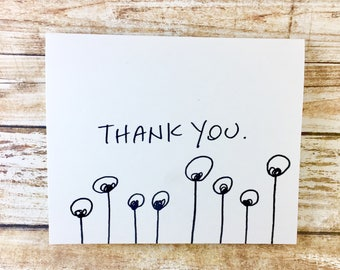 Handwritten Thank You Note Card Wow Thanks Hand Lettered Etsy