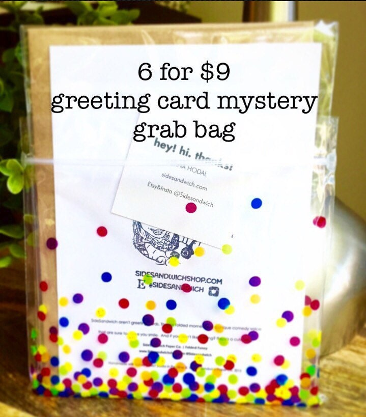 Greeting card grab bag funny greeting card sale perfectly 1 m4hsunfo