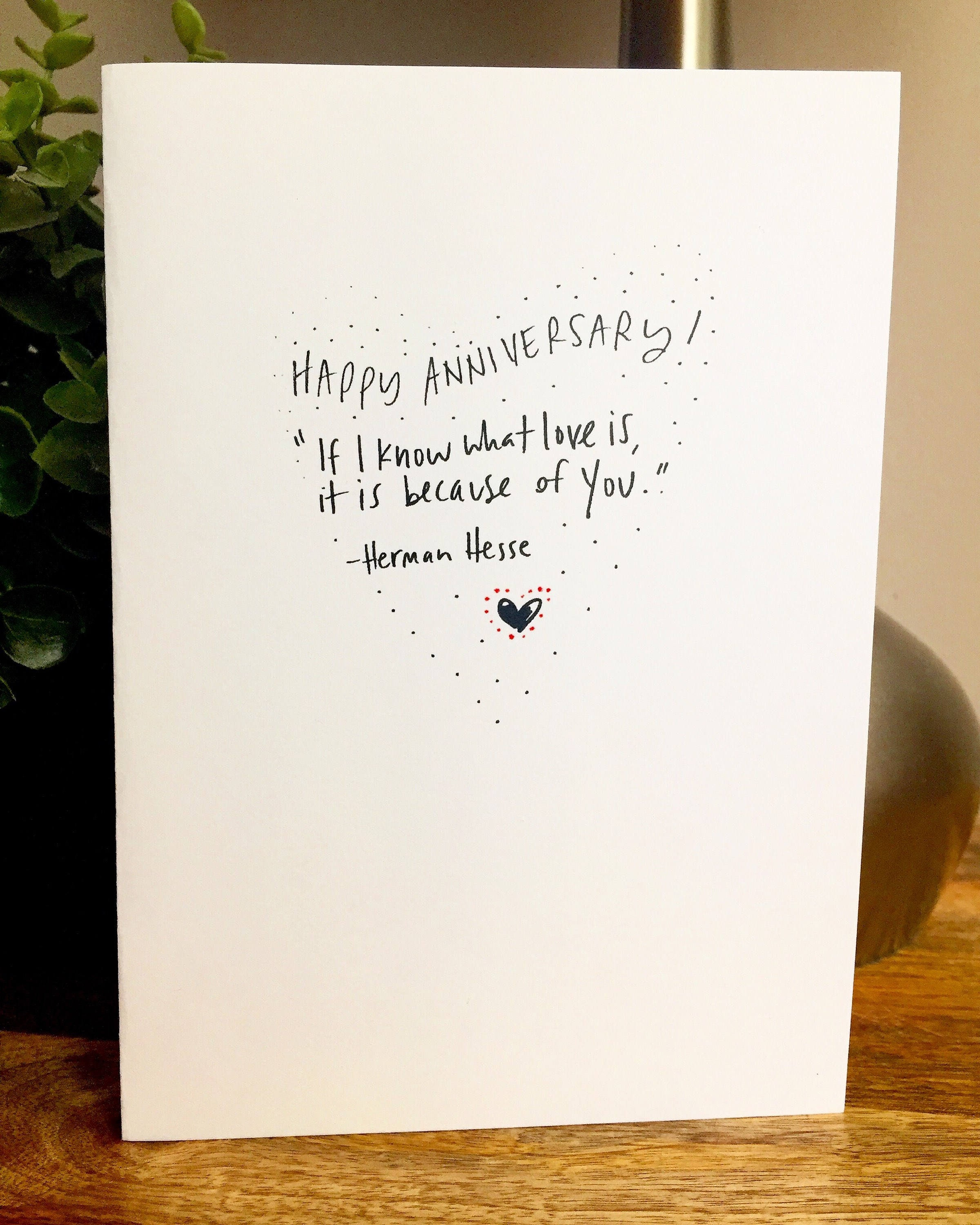 I know what love is one year anniversary card for her paper 1 m4hsunfo