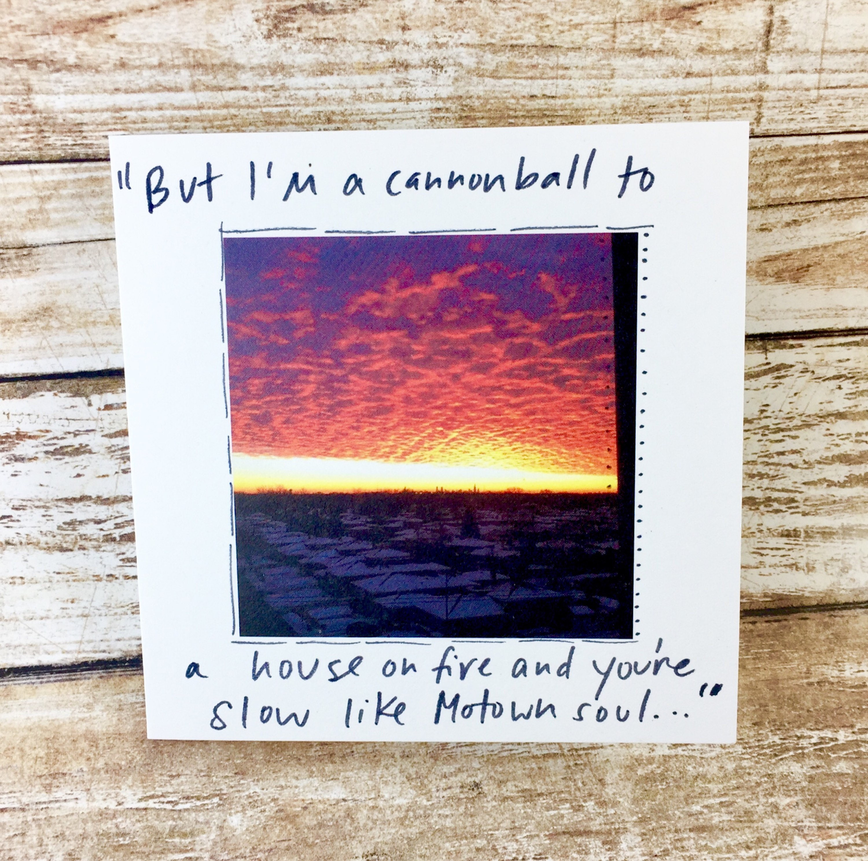 Greeting Card With Gaslight Anthem Quote Brian Fallon Chicago