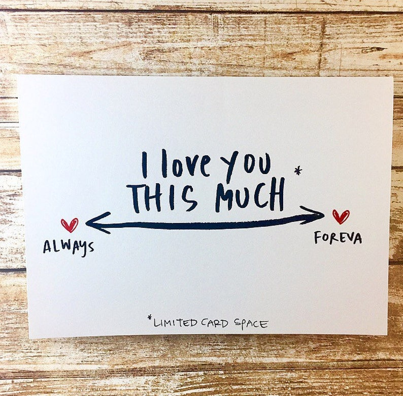I Love You This Much Card Anniversary Card Social Distancing image 0