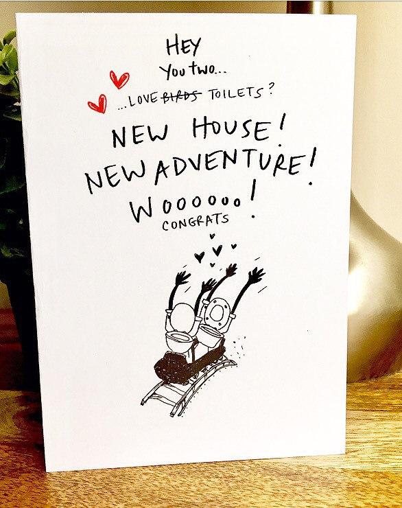 congrats on the new house card new house card housewarming card