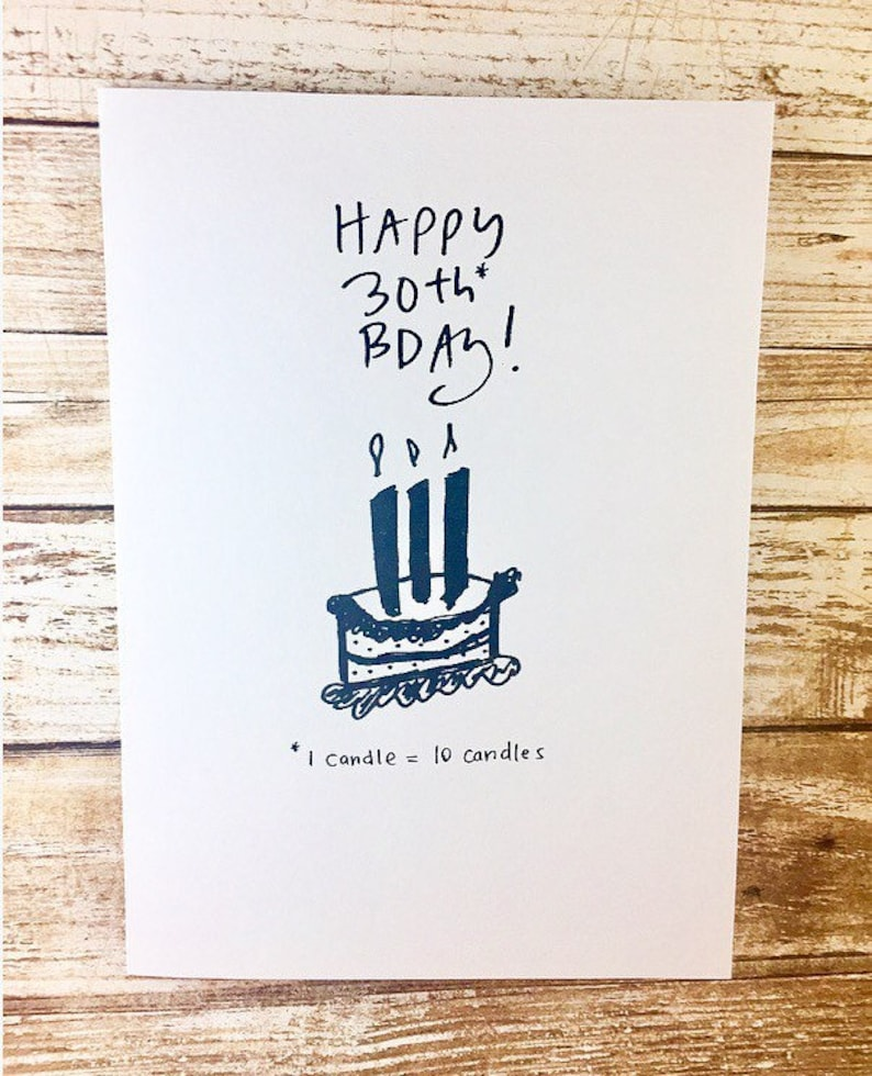 Super 30Th Birthday For Him Card Funny 30Th Birthday Card 30Th Etsy Funny Birthday Cards Online Bapapcheapnameinfo